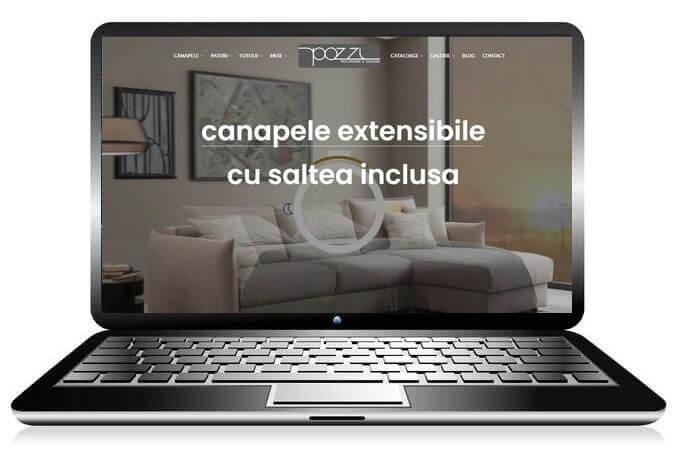 realizare website canapele